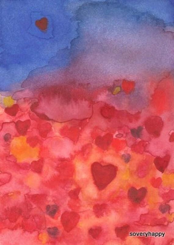 Love's Journey, Original Watercolor Painting