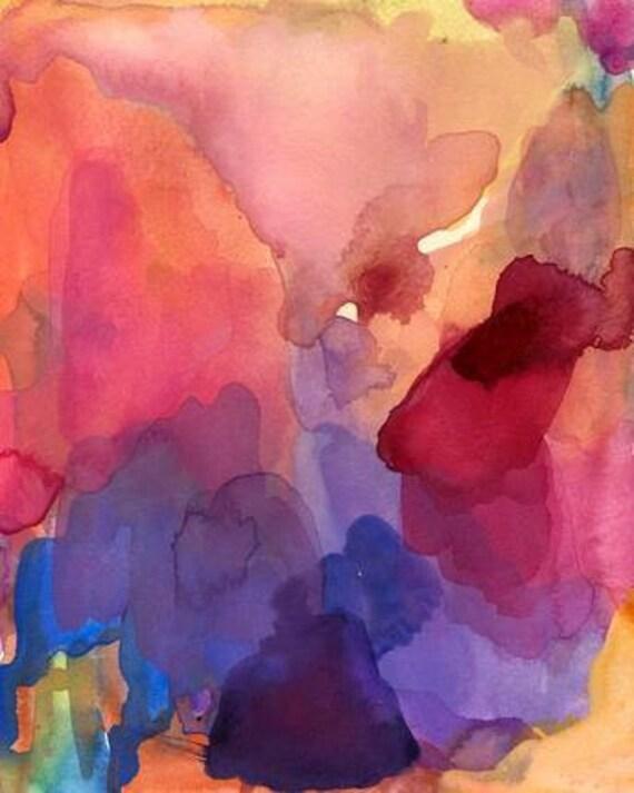 Art Print, Watercolor, To Love