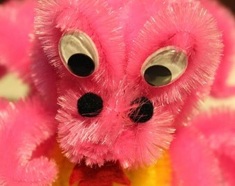 Chenille Dragon - Hot Pink