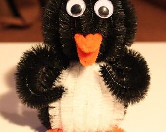 Chenille Penguin - Black
