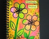 Bright, Colorful Handpainted Gratitude Journal