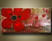 Poppy Flower Art Painting 2ft X 4ft by KAG