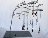 RESERVED - Custom Silver Windswept Jewelry Tree for pk21