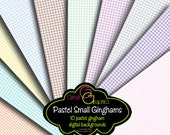 Pastel Gingham Digital Paper Gingham Background Baby Shower Paper Printable Paper Instant Download