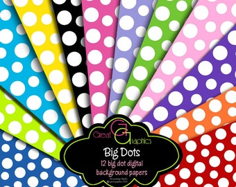 Polka Dot Paper Digital Polka Dot Paper Invitation Paper Printable Polka Dots Digital Paper - Instant Download