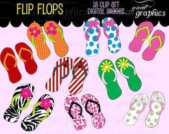 Flip Flop Clip Art Flipflop Digital Clipart Flip Flop Flipflops Printable Clip Art  Beach Clipart Instant Download