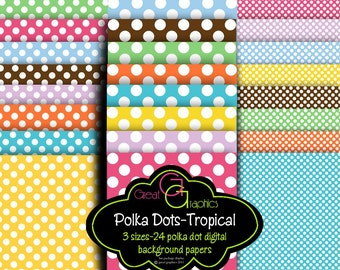 Polka Dot Paper Digital Background Paper Polkadot Digital Paper Polka Dot Paper Polka Dot Printable Invitation Paper - Instant Download