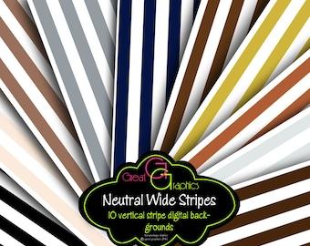 Digital Stripe Paper Black and White Stripe Digital Paper Background Paper Printable Background - Instant Download
