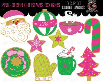 Christmas Cookie Clip Art Christmas Clipart Digital Christmas Holiday Clipart Printable Invitation Clip Art - Instant Download