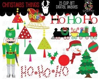 Christmas Clipart Christmas Digital Clip Art Christmas Printable Christmas Tree Clipart Digital Christmas Clip Art - Instant Download