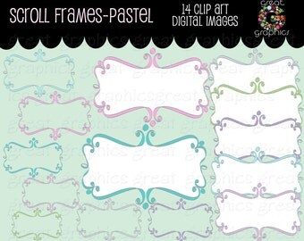 Digital Frame Clipart Printable Frame Digital Clipart Frame Clip Art Calligraphy Frame - Instant Download