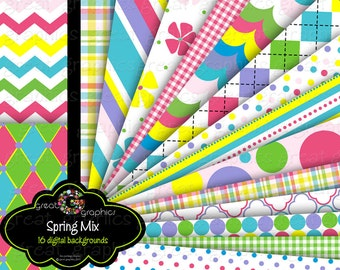 Party Digital Paper Invitation Background Paper - Instant Download