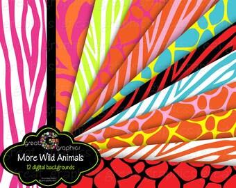 Printable Animal Print Digital Paper Zebra Print Pink Zebra Printable Paper Animal Print Party Paper - Instant Download