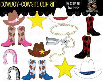 Cowboy Clipart Cowgirl Clip Art Digital Clip Art Pink Cowgirl Cowboy Hat Clipart Cowboy Boots Instant Download