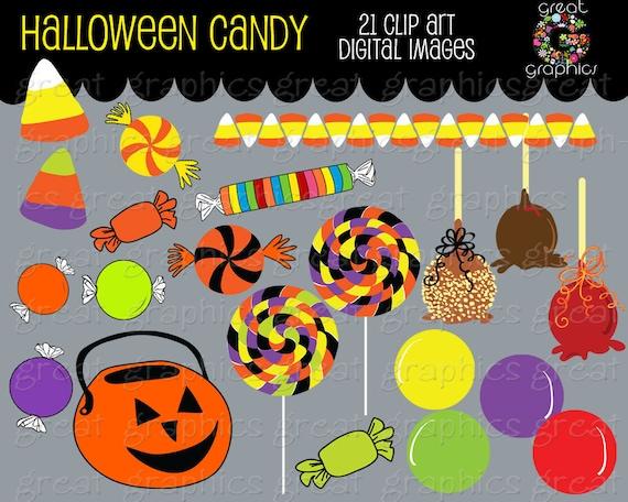 Halloween Clipart Halloween Digital Clipart Halloween Candy Printable Clip Art Candy Corn Clipart - Instant Download