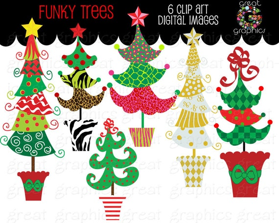 Christmas Tree Clipart Clip Art Digital