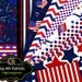 4th of July Paper Patriotic Party Paper Fourth of July Party Paper Red White and Blue Digital Background Instant Download