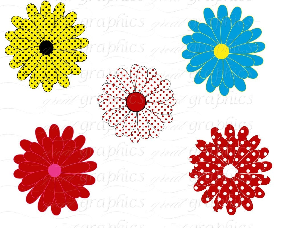 Flower Digital Clip Art Flower Clipart Printable by ...