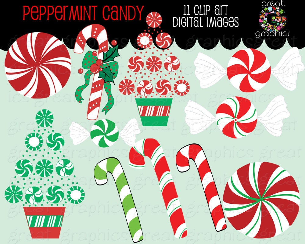 Primitive Christmas Clip Art Christmas candy clip art