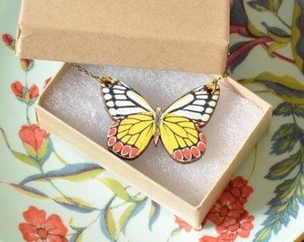 Cecily Butterfly Pendant Necklace