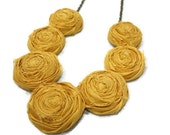 Rosette Necklace- MUSTARD