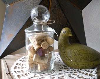 Vintage Bubble Apothecary Jar