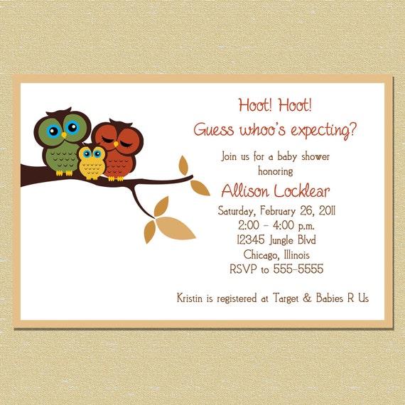 Owls Invitations as amazing invitation ideas