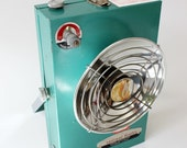 Vintage 1950's Turquoise Radiant Space Heater Portable Turner Corp.
