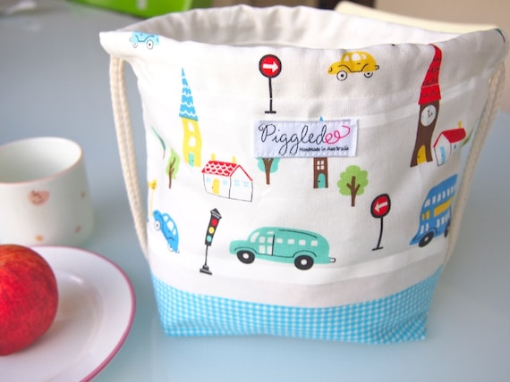 Toddler Backpack Lunch Bag - Working Cars