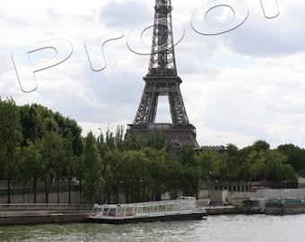 Paris 2009 - Eiffel Tower Across the Seine River