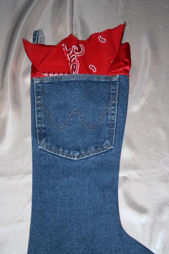 Wrangler Christmas Stocking with bandana pocket