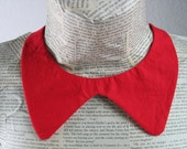 Pillar box red collar with button popper fastening
