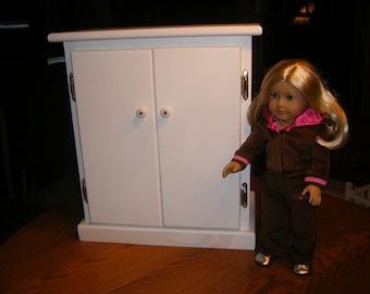 18 inch Doll Armoire/Wardrobe for American Girl Doll