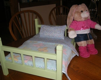 18 inch Doll Bed for American Girl or Build a Bear