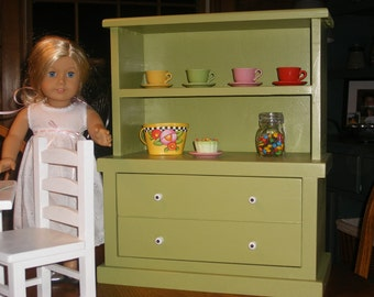 Hutch/Bookcase for 18 inch Doll