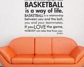 Basketball Michael Jordan quote subway art words vinyl  wall decal