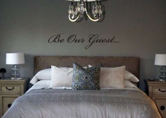 Be Our Guest removable vinyl wall art