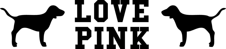 Custom listing victoria s secret pink vinyl by grabersgraphics