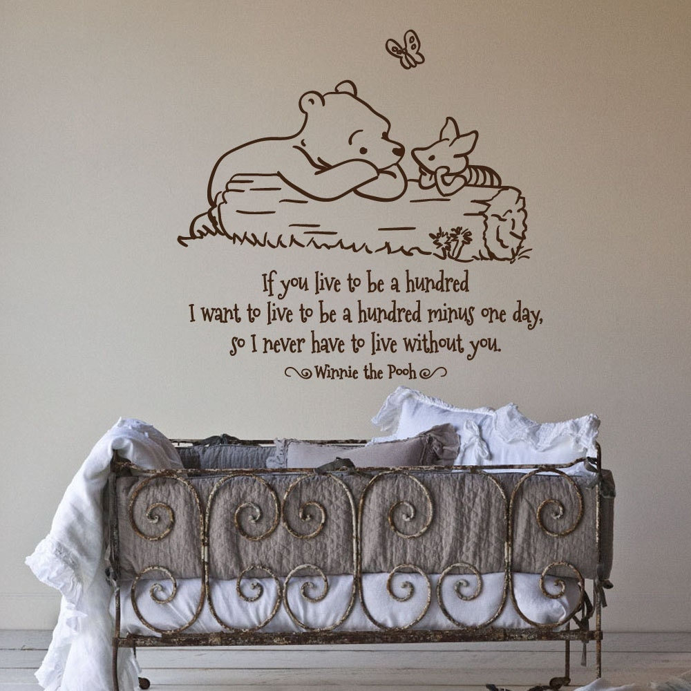 Classic pooh piglet if you live to be a hundred by for Classic pooh mural