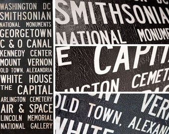 "WASHINGTON, DC  Bus Scroll - Custom for mtarre 32""x59"""