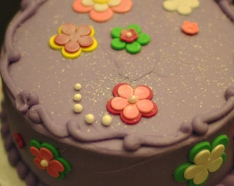 Fondant Flowers to Decorate a Smash Cake, Birthday or Shower Cake or Cupcakes