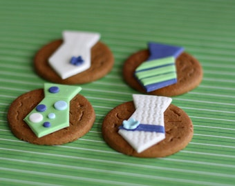 Fondant Tie Toppers for Decorating Cupcakes, Cookies or other Sweet Treats