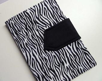 Zebra eReader Cover Kindle, Nook, Kobo, All Sizes of Ereaders FREE SHIPPING