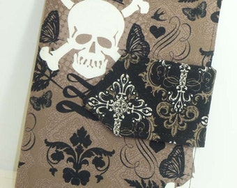 Skulls and Crosses eReader Cover Kindle Cover, Nook Cover, Every Size FREE SHIPPING
