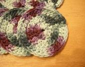 Crochet Cotton Facial Pads or Scrubbies Set of 3