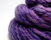 CLEARANCE Handspun Yarn - The Queen, Merino x Shetland wool, Bamboo, gorgeous purple, 2-ply, bulky weight