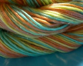 Handspun Yarn - Vacation, Merino wool and Tencel, super soft, single ply, DK weight