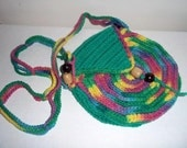 Rainbow Green Circle Purse