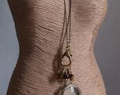 Knitting stitch marker necklace