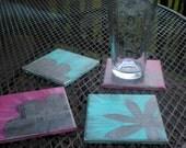 Beautiful  Ceramic Coasters - SALE PRICE